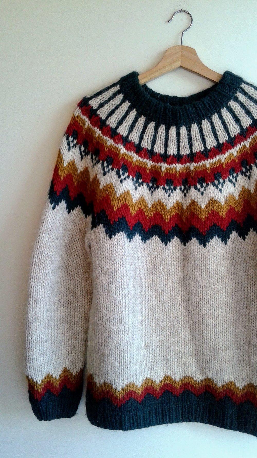 Icelandic sweater; Size M/L, $52