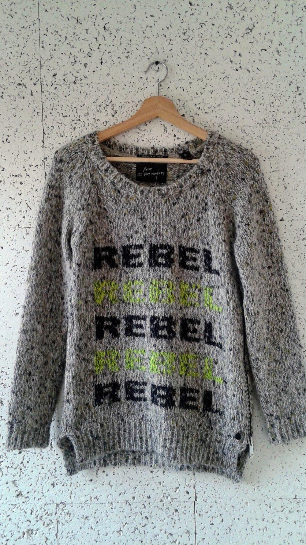 Maison Scotch  sweater; Size S, $34