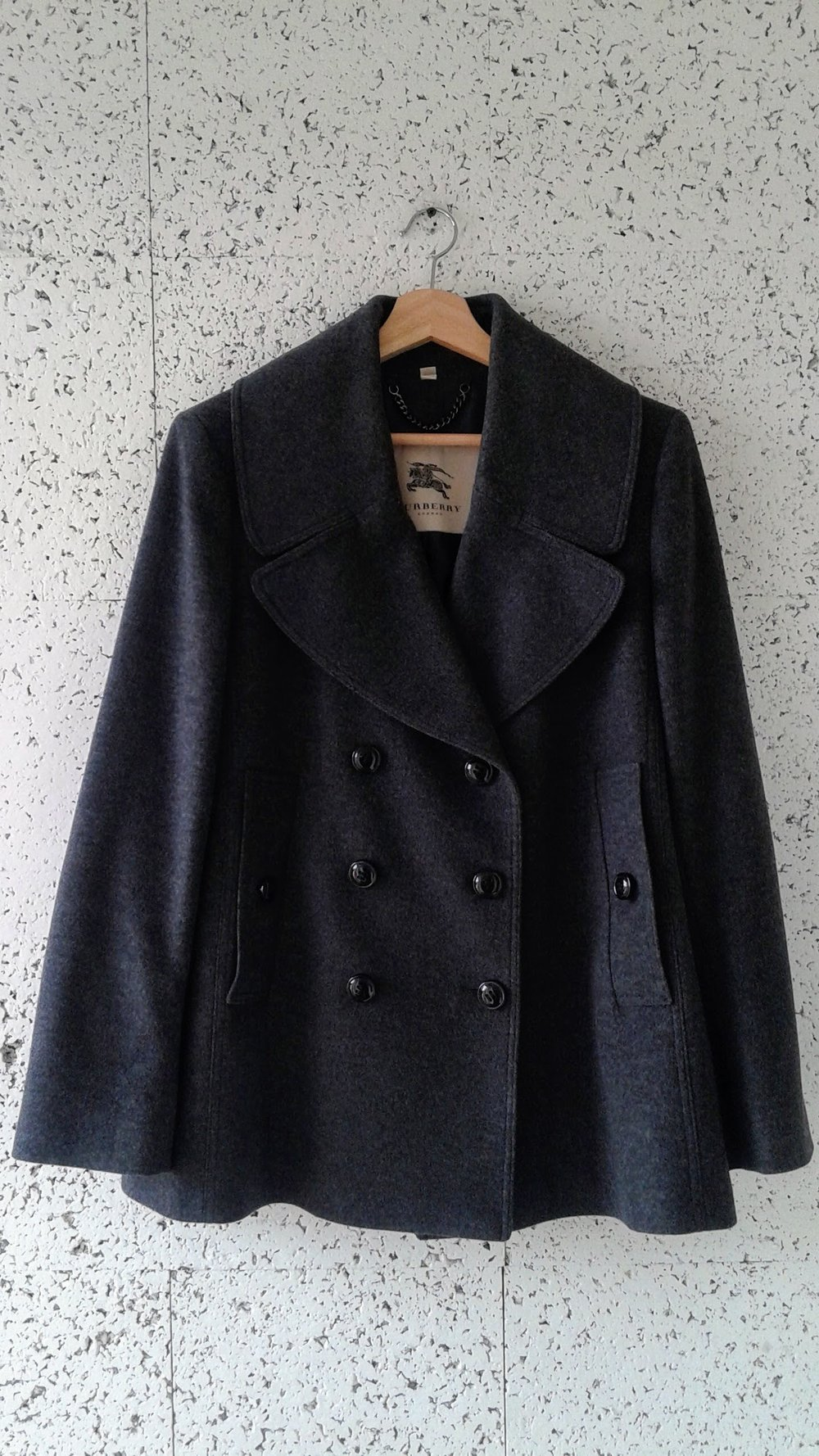 Burberry coat; Size 14, $325