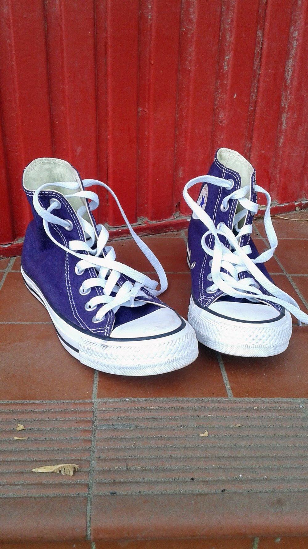 Converse shoes; S6.5, $34