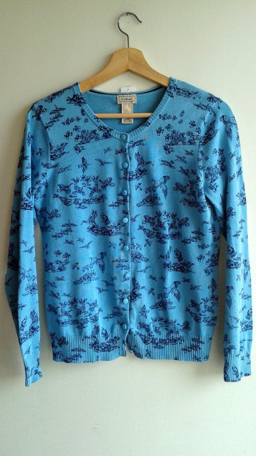 LL Bean cardigan; Size M, $20