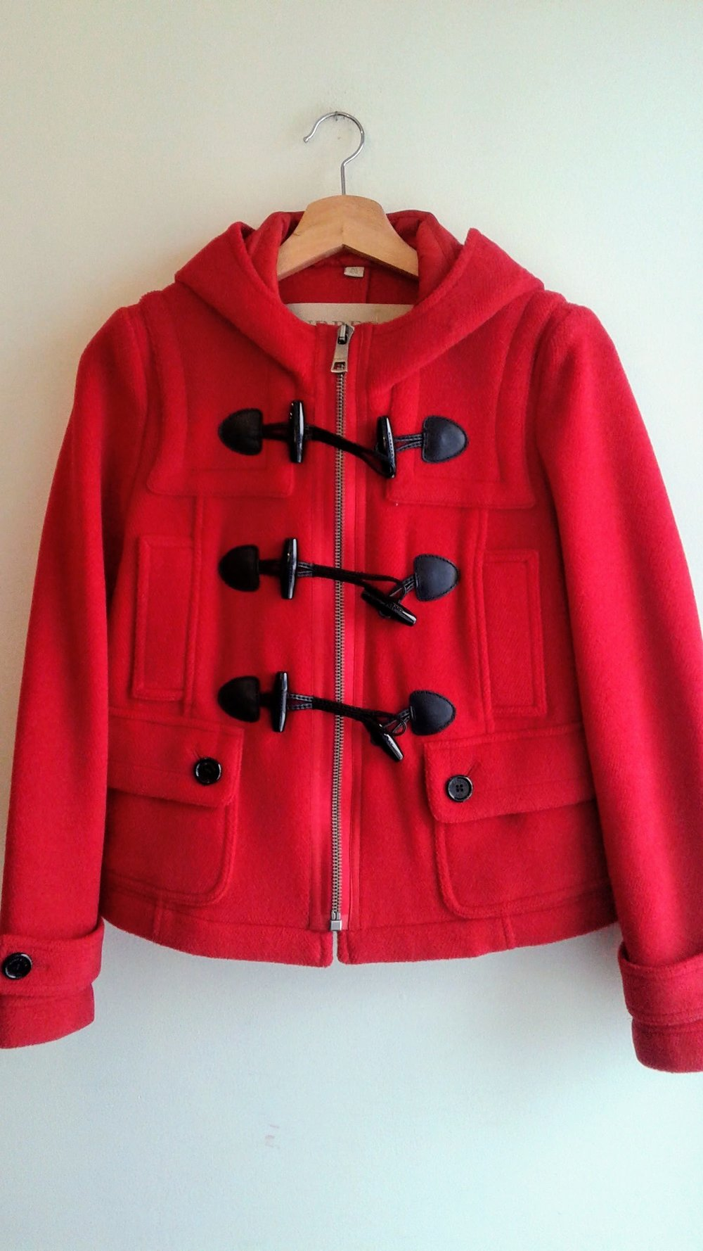 Burberry jacket; Size 4, $125