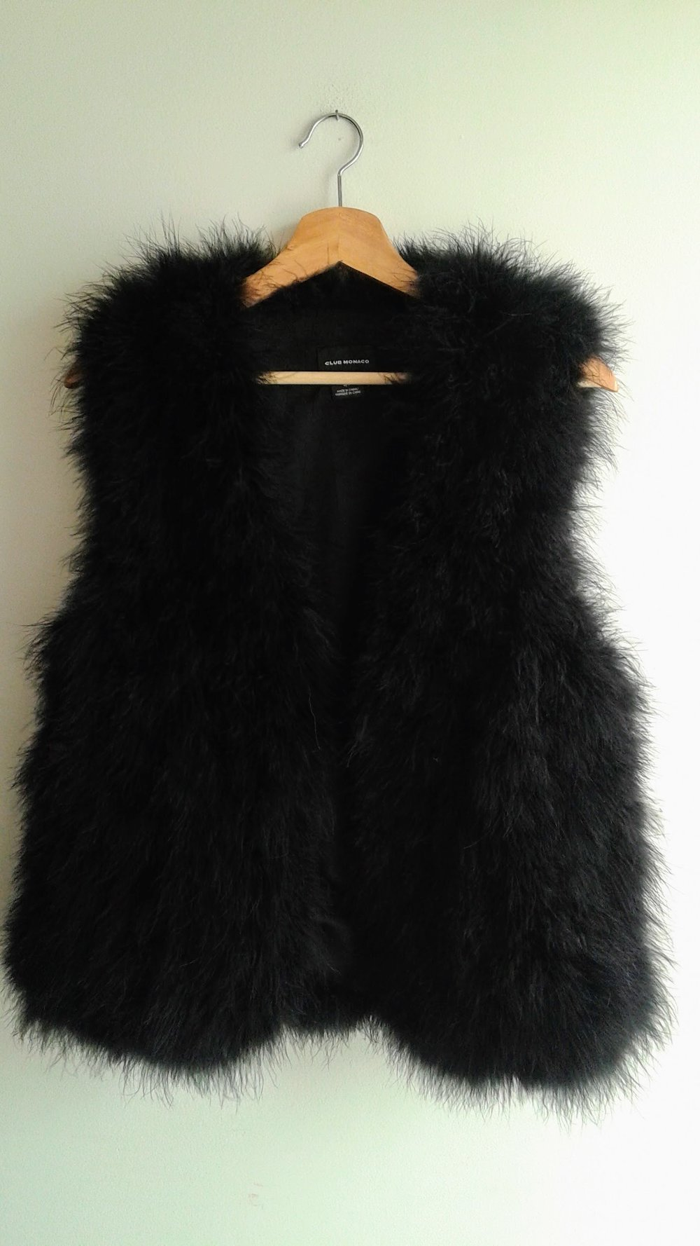 Club Monaco vest; Size S, $85