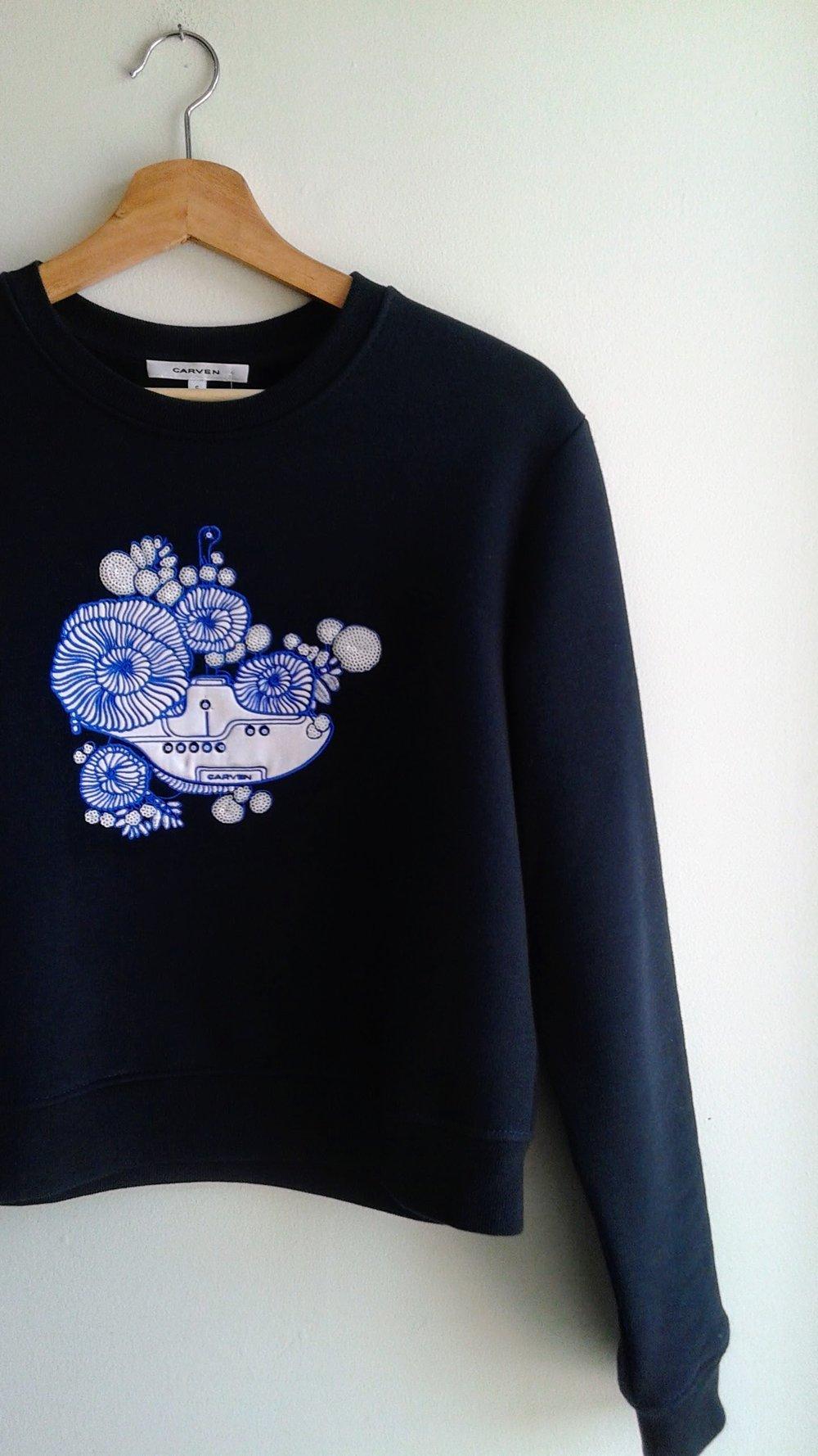 Carven sweatshirt; Size S, $95