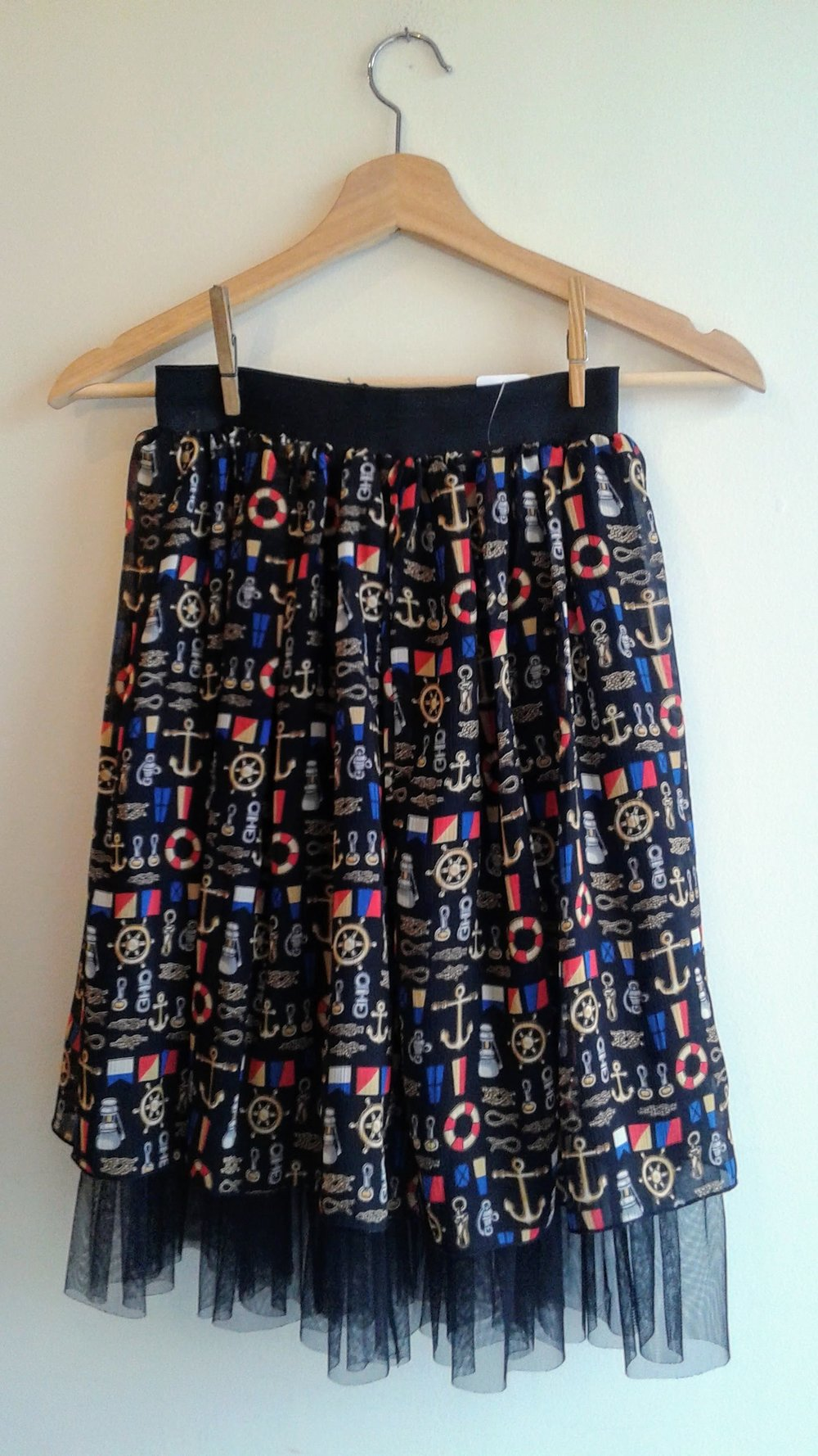 Nautical skirt; Size S, $20