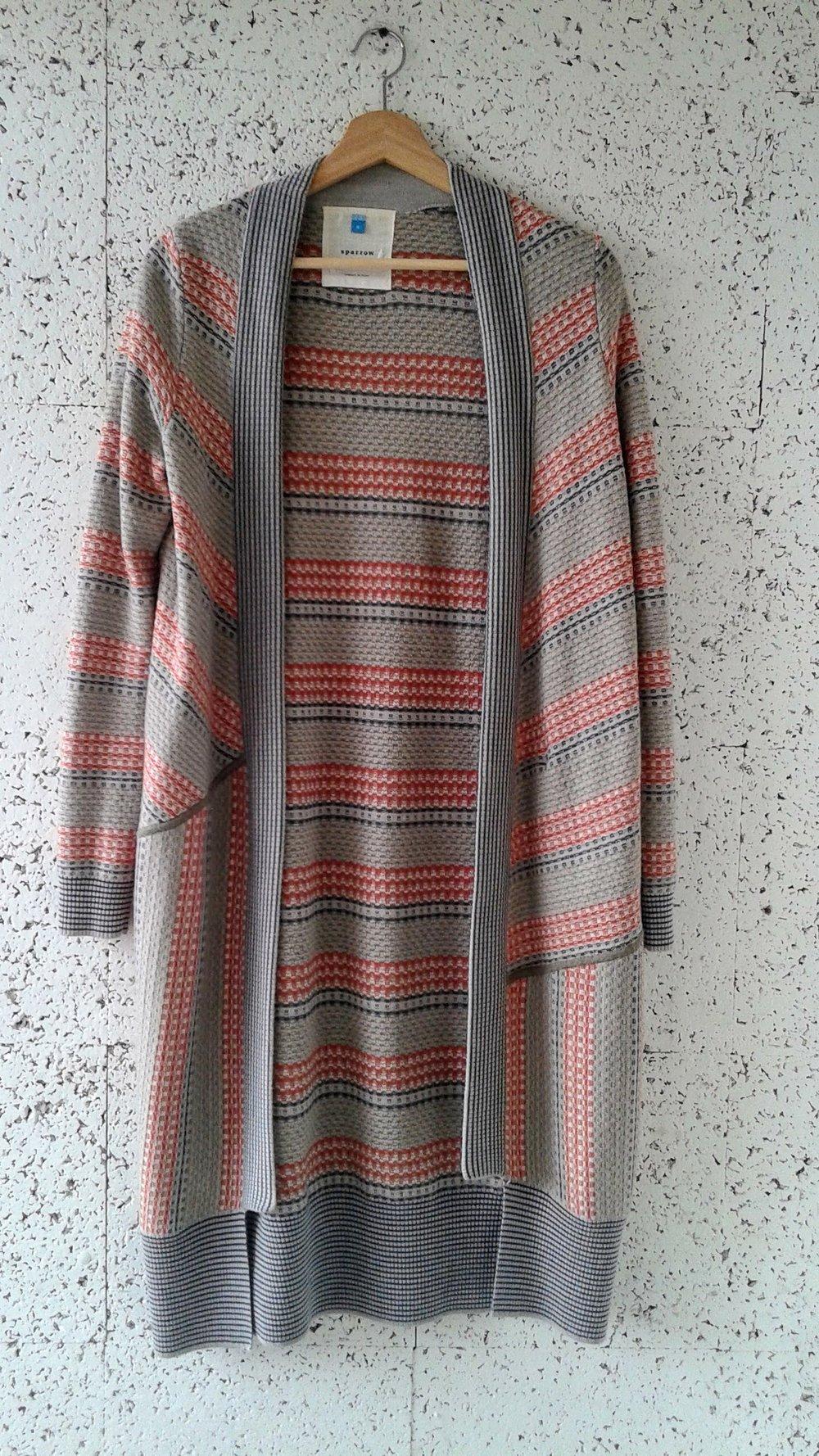 Sparrow cardigan; Size S, $32