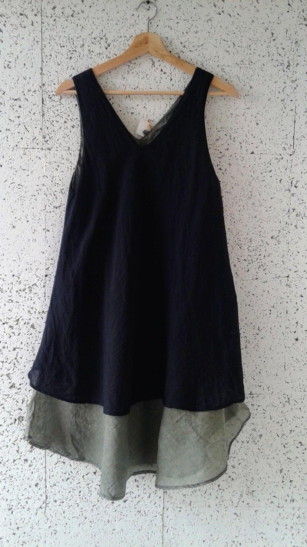 Linen dress (NWT); Size M, $26