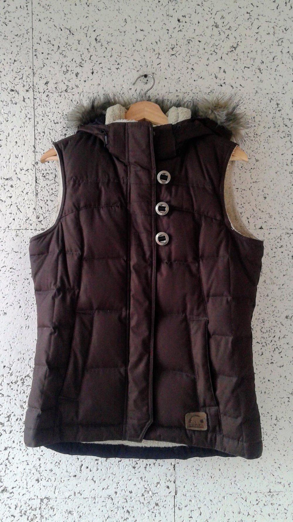Sorel vest; Size S, $42