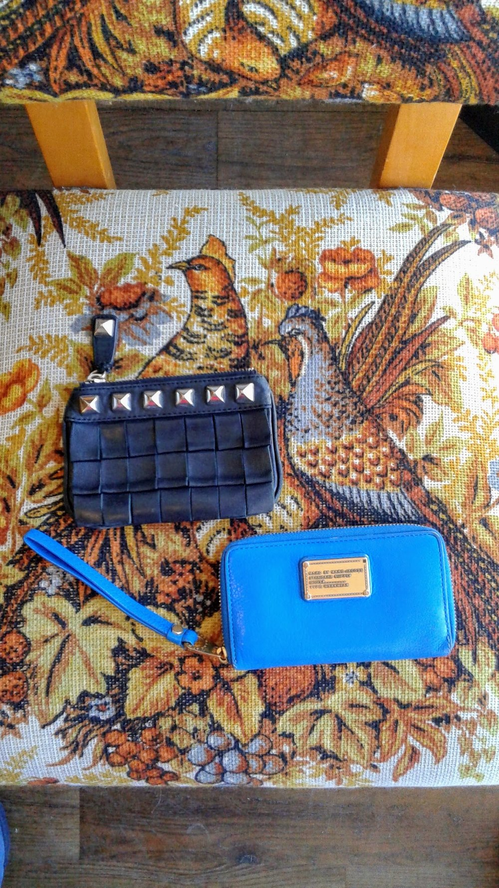Betsy Johnson wallet, $22. Marc Jacobs walled, $36