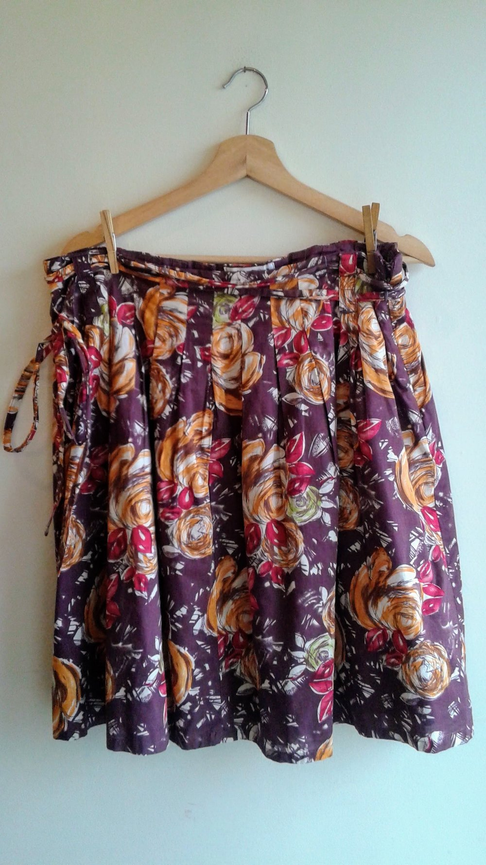 Floral skirt; Size 16, $26