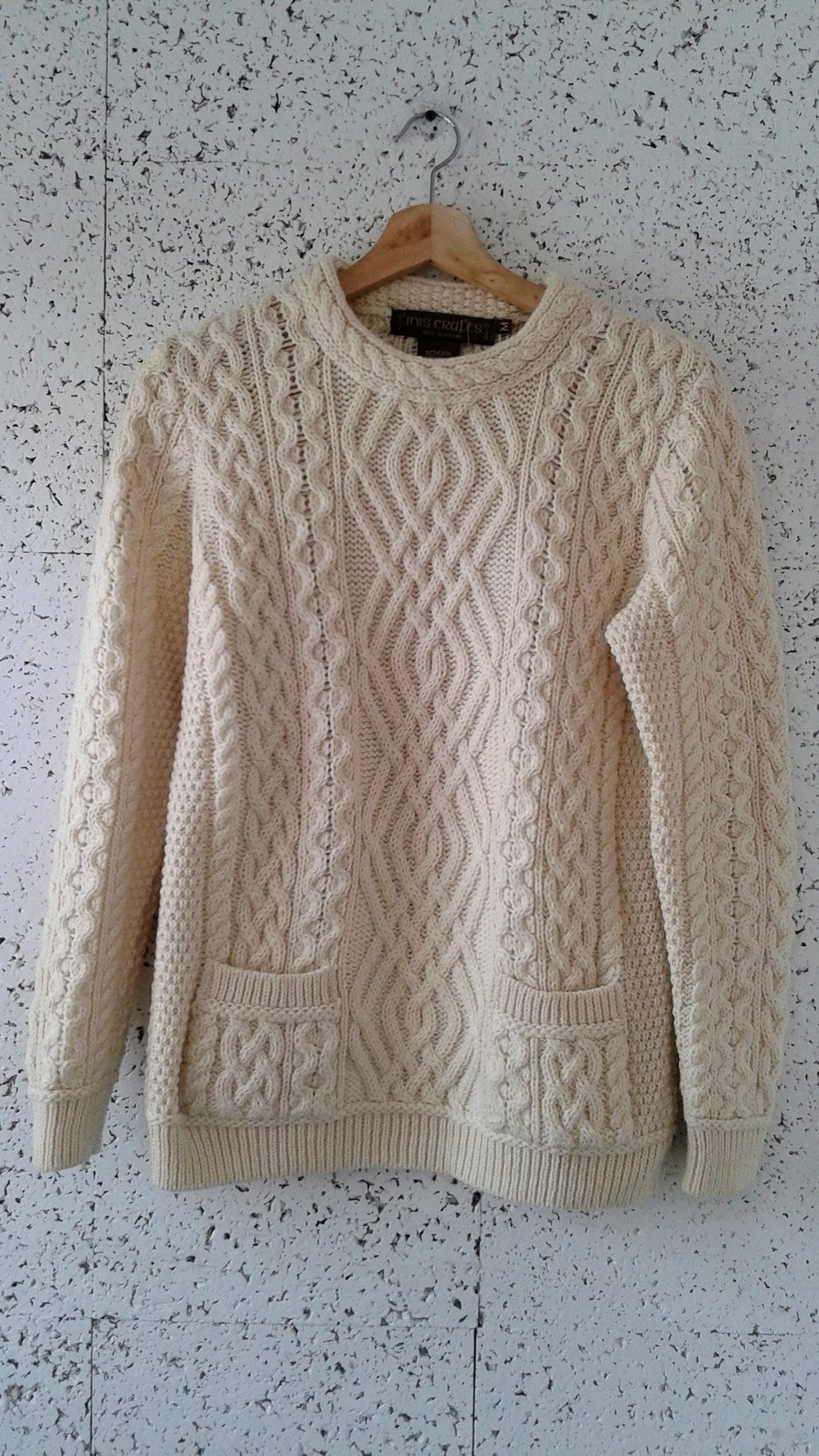 Inis Craft sweater; Size M, $42