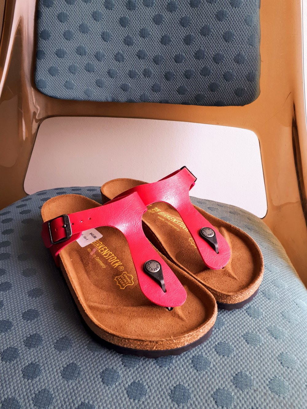 Birkenstock sandals; S8, $42