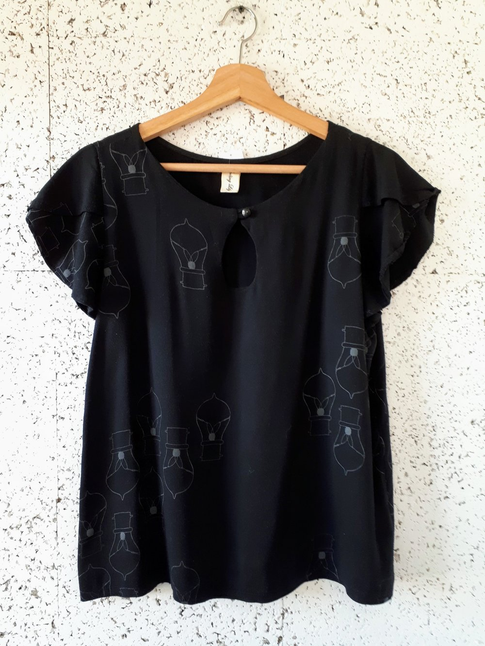 Smoking Lily top; Size S, $28