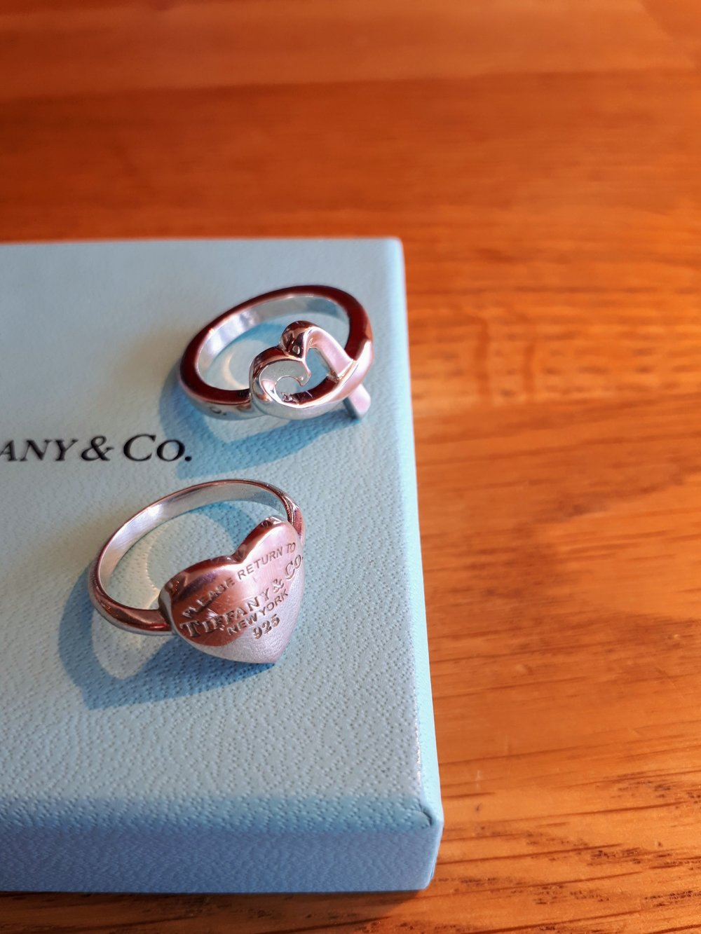 Tiffany rings; top,  $125; bottom, $150