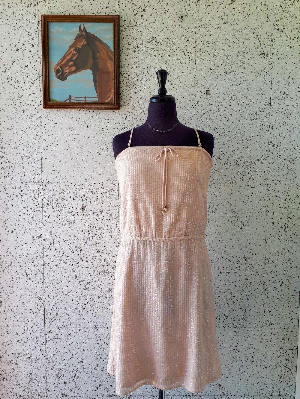 Peach dress; Size M, $34