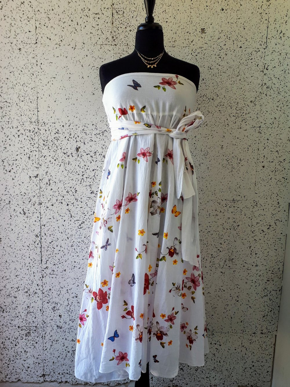 White dress; Size M, $38