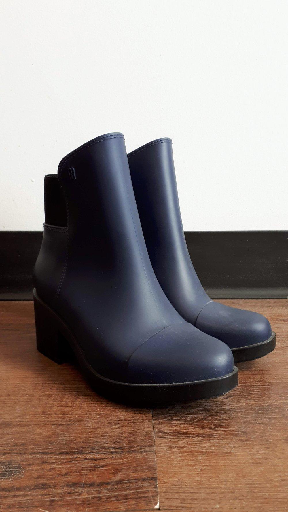 Melissa boots; S7, $42