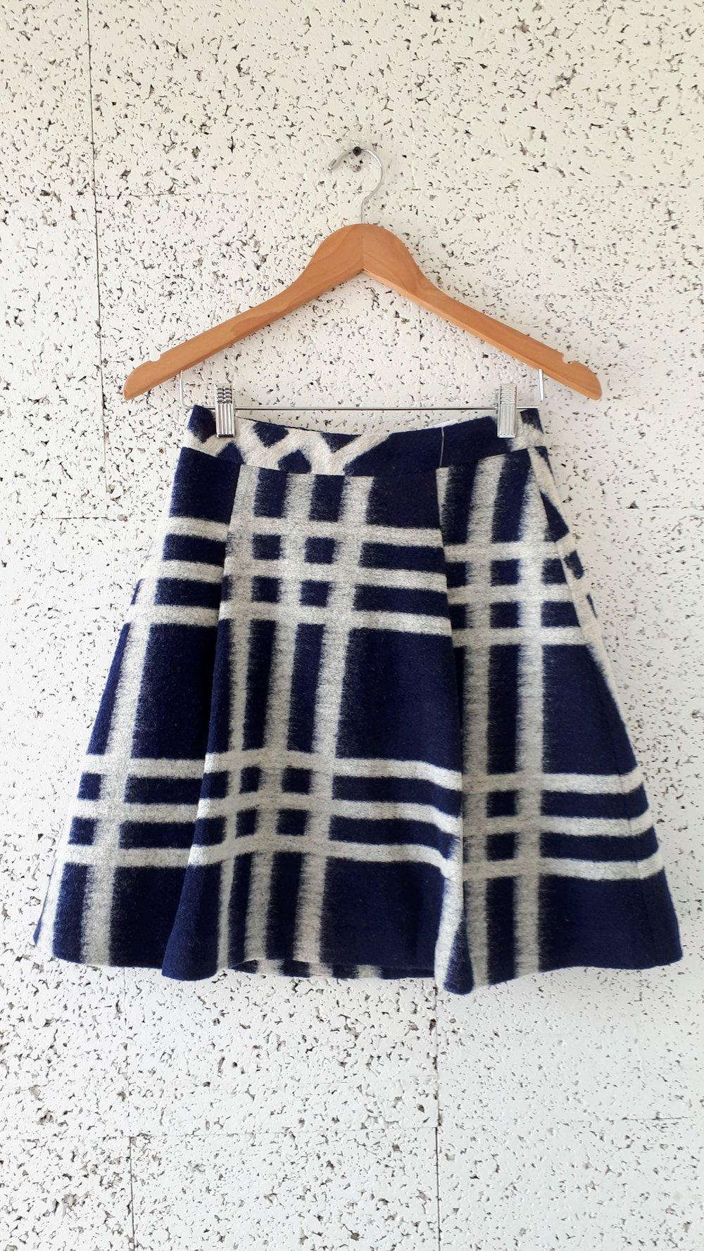 Pink Tartan skirt; Size 0, $30