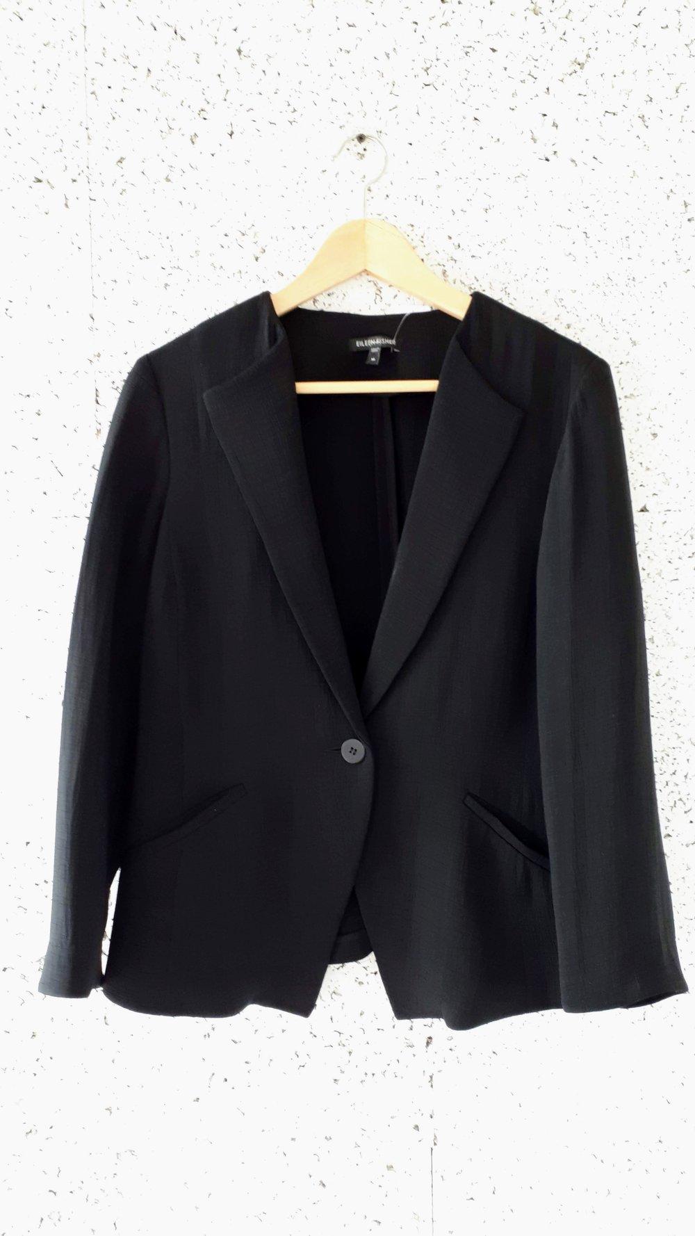 Eileen Fisher blazer; Size M, $125