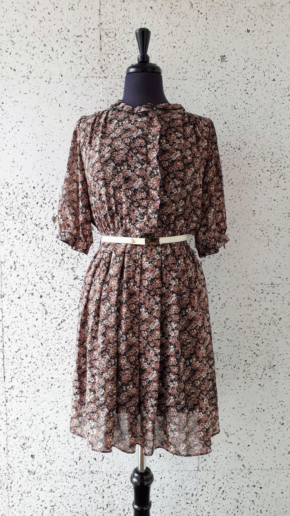 Floral dress; Size S, $24