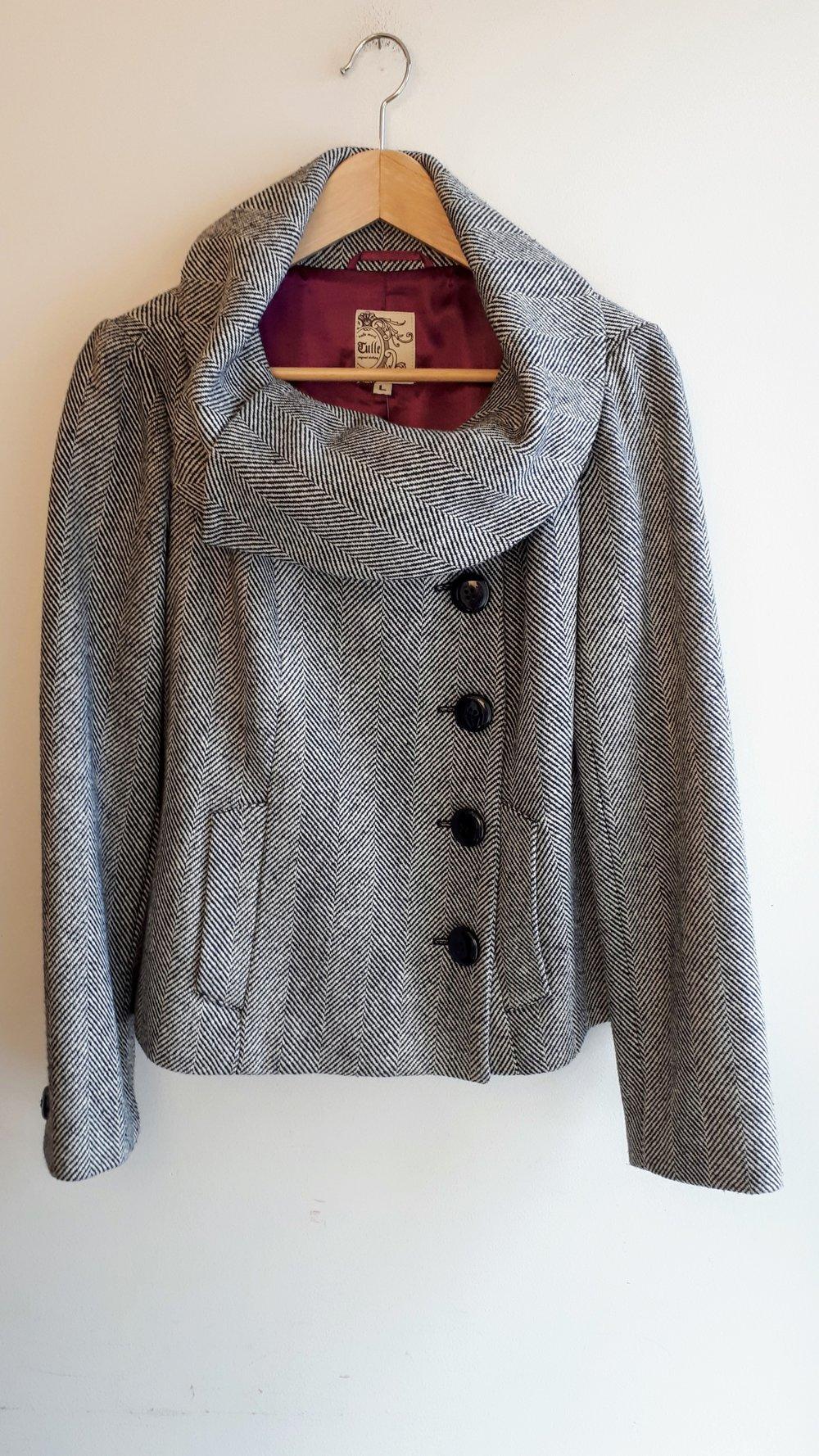 Tulle coat; Size L, $62