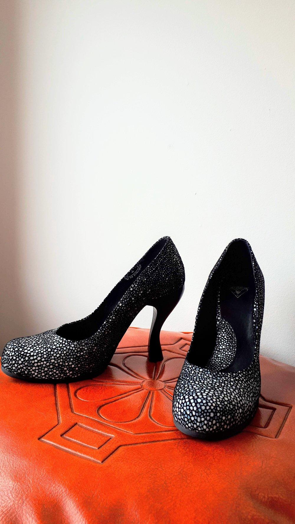 Fluevog shoes; S8, $75
