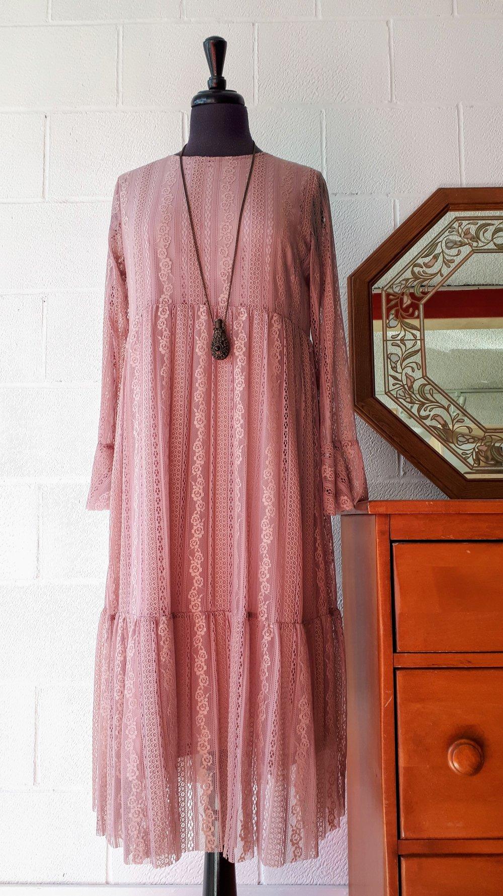 Pink dress; Size M, $45