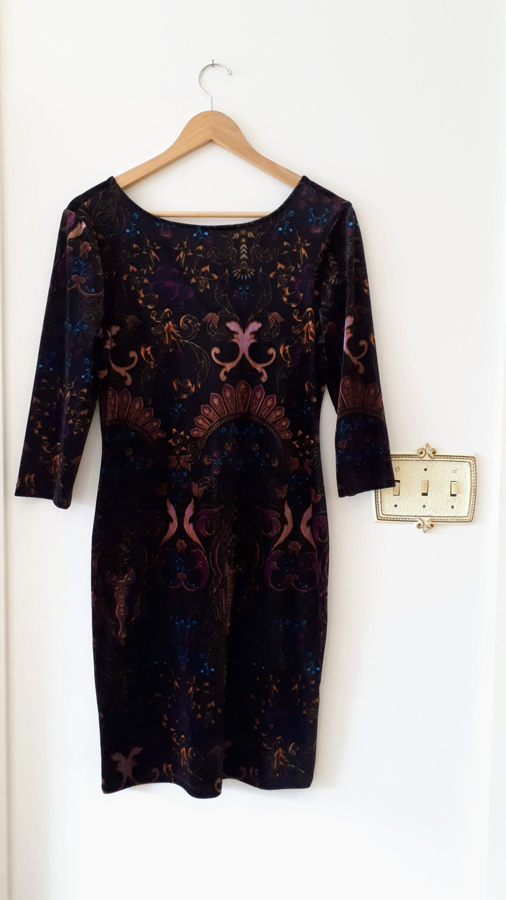 Velvet dress; Size S, $30