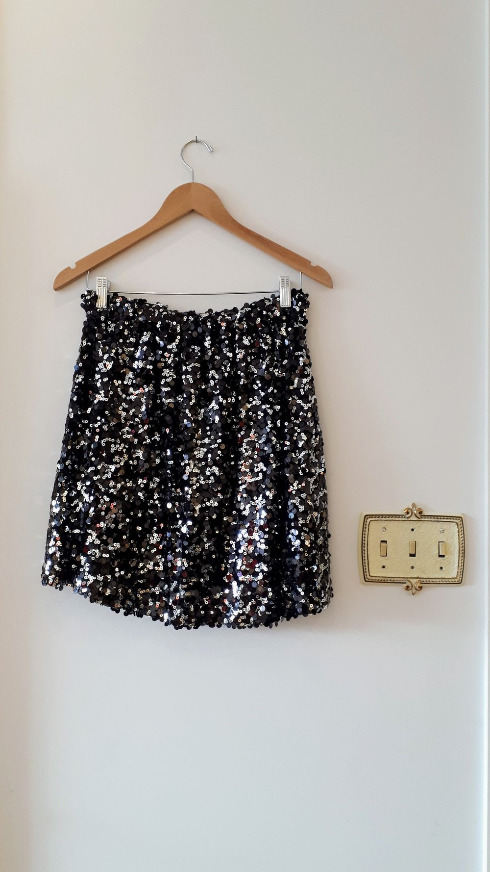 Sequin skirt; Size S, $26