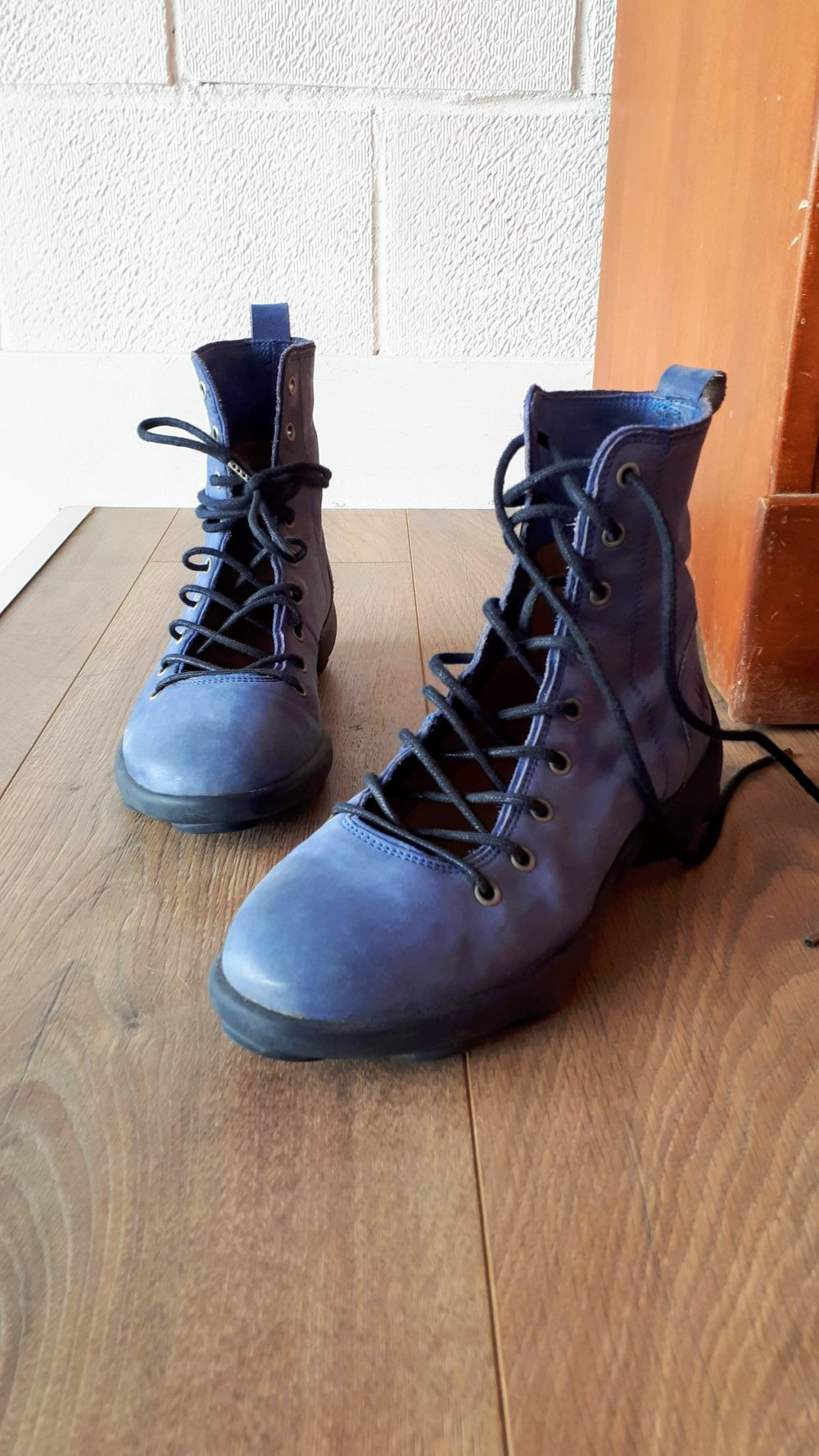 Fluevog boots; S8, $95