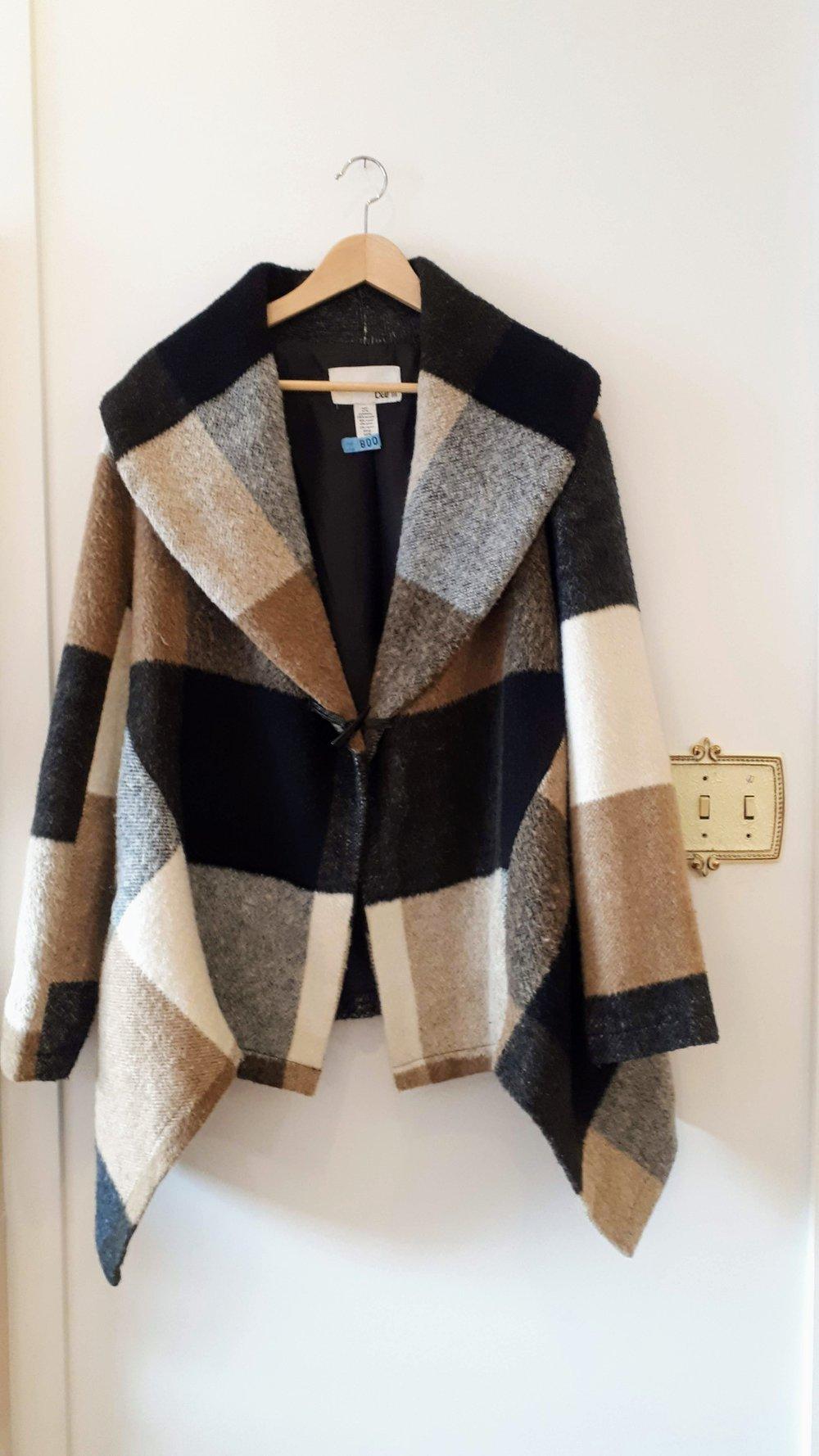 Bar III coat; Size XL, $48