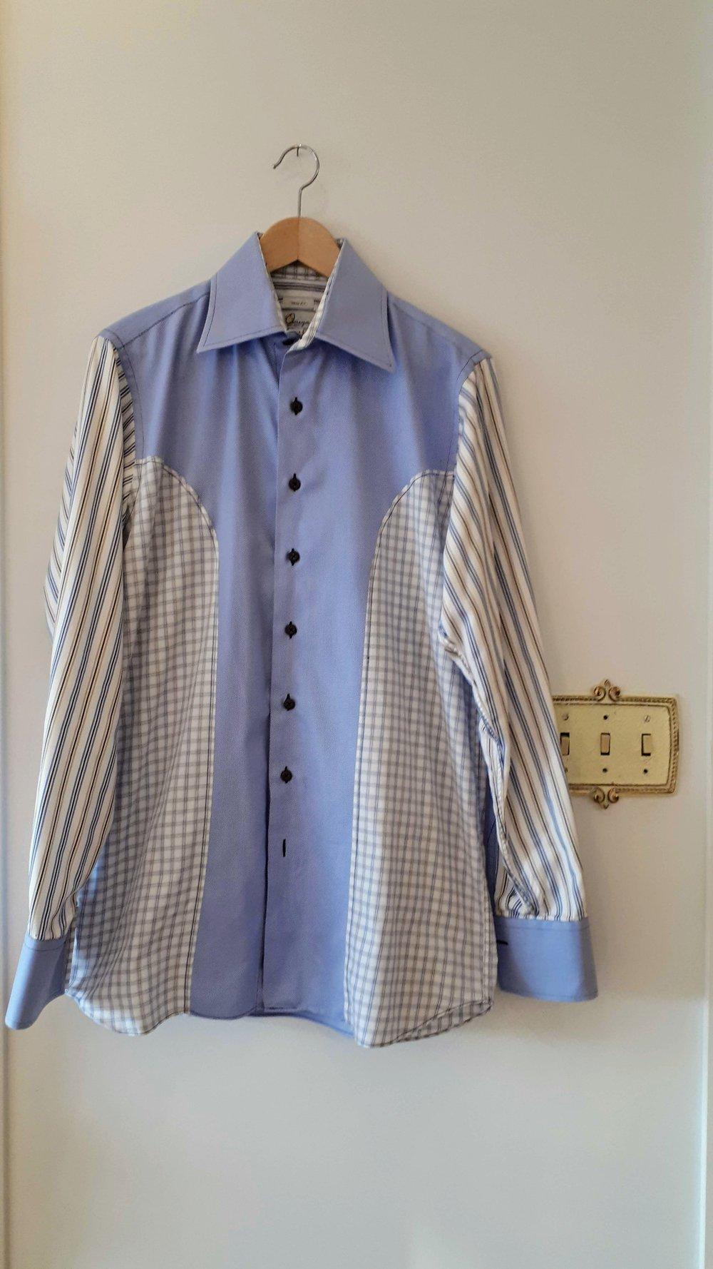 Omega bespoke mens shirt; Size L, $28