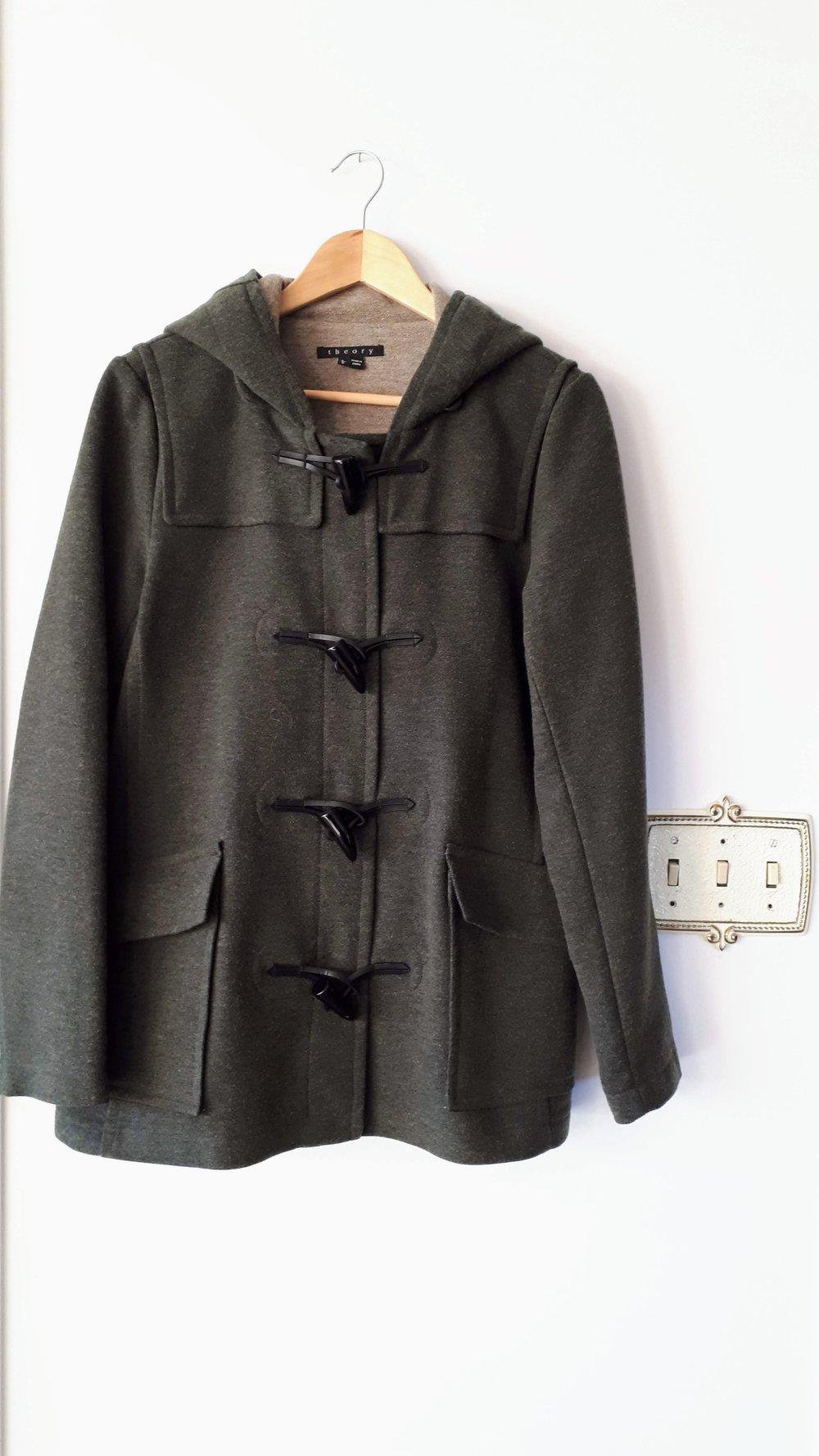 Theory coat; Size L, $95