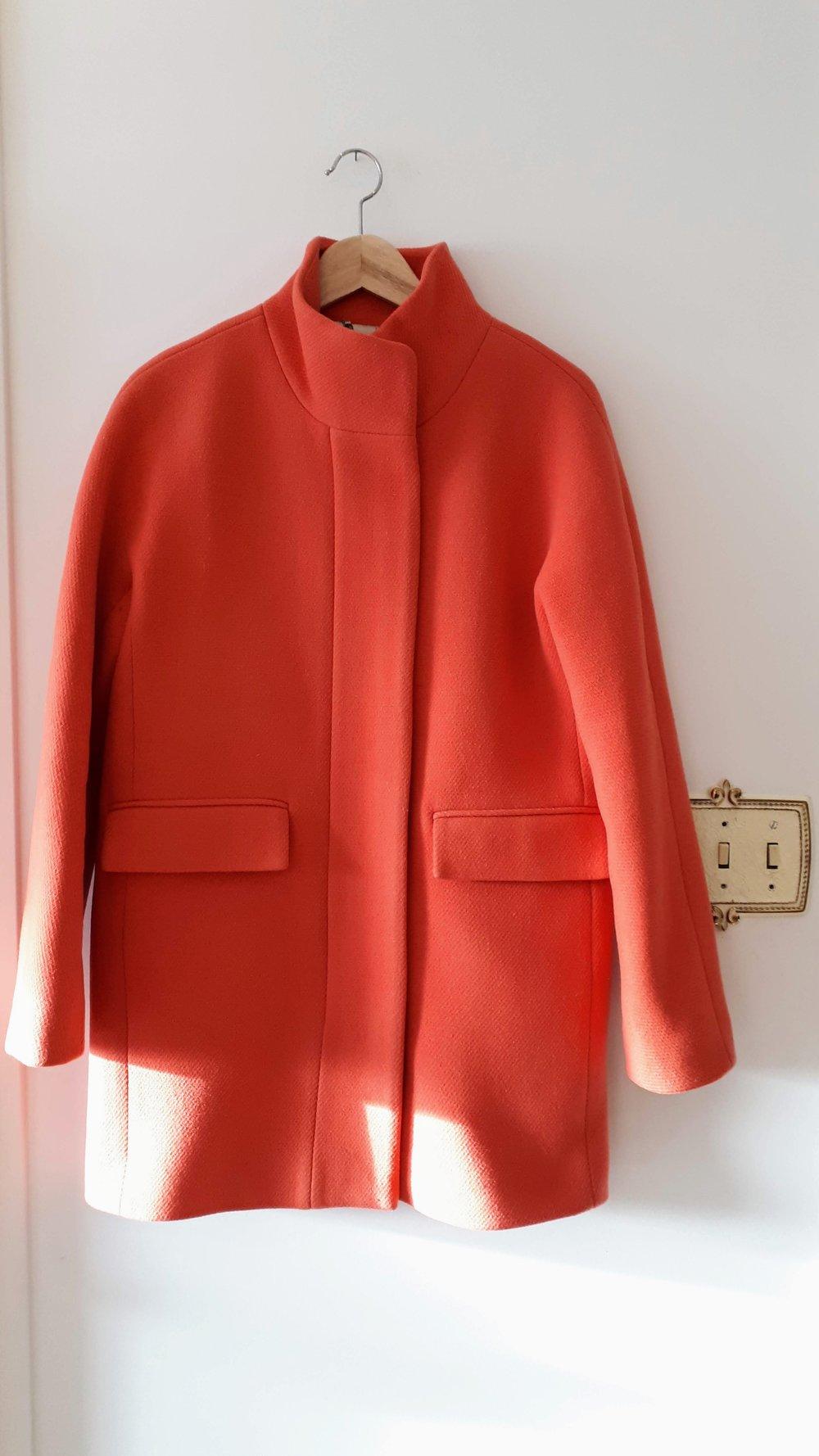 J Crew coat; Size 8, $58