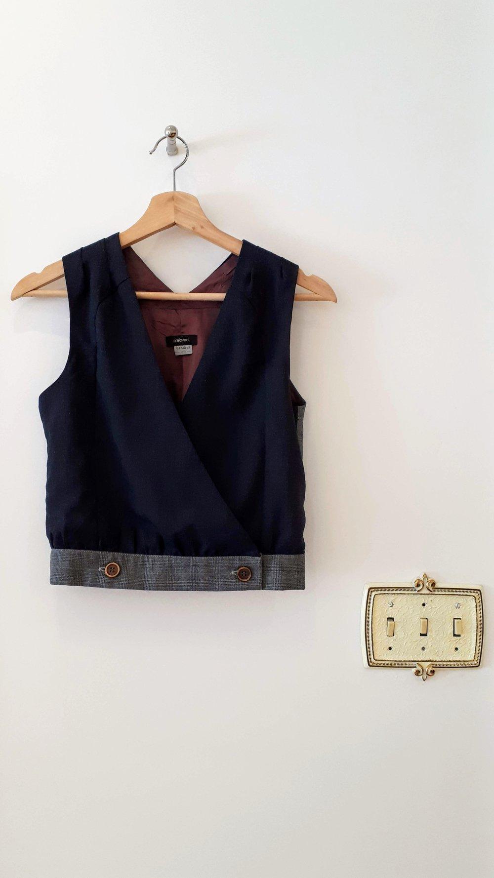 Preloved vest; Size XS, $26