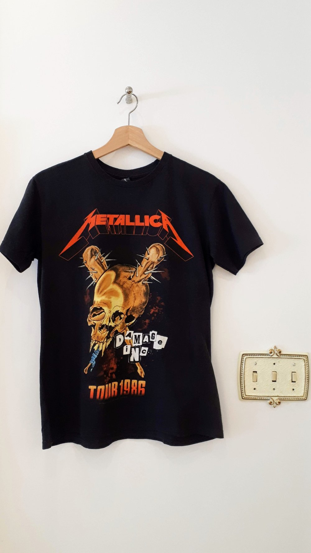 Metallica T; Size M, $24 (on sale for $12!)