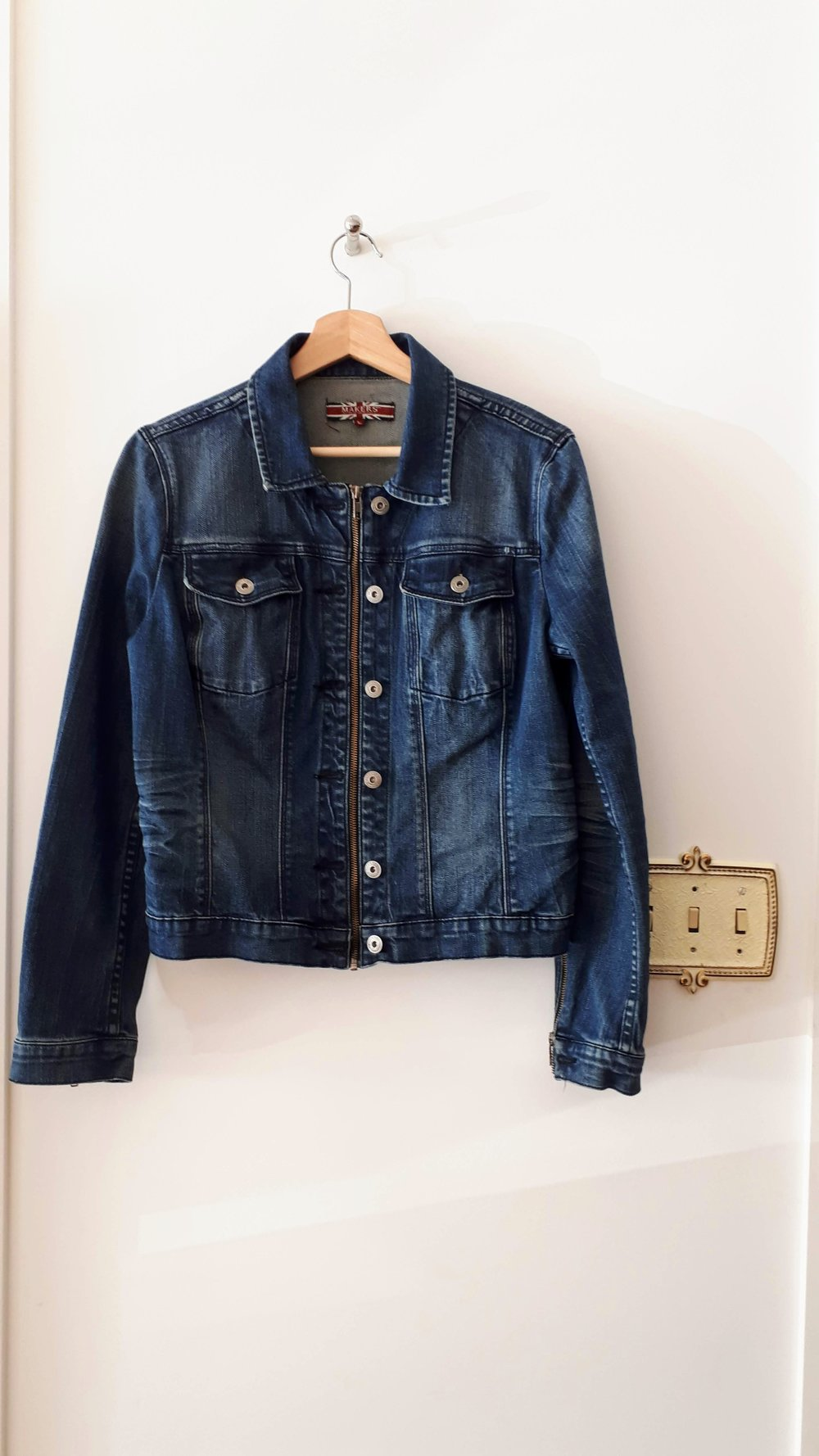 Makers jacket; Size M, $38