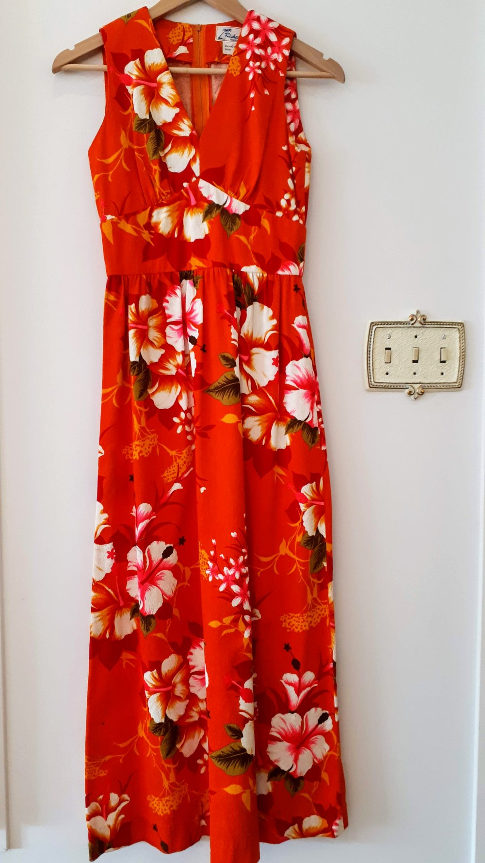 Hawaiian dress; Size S, $38