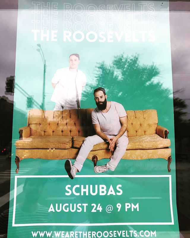 ¡CHICAGO! Playing again tonight with our new friends @theroosevelts! Killer show at #schubas, let's do this! . . . . #chicagomusic #independentmusic #chicago #chicagofinedining