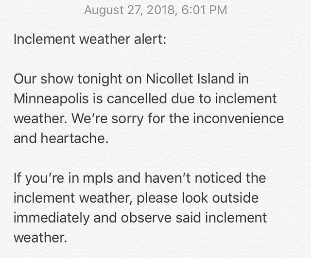 #inclementweather