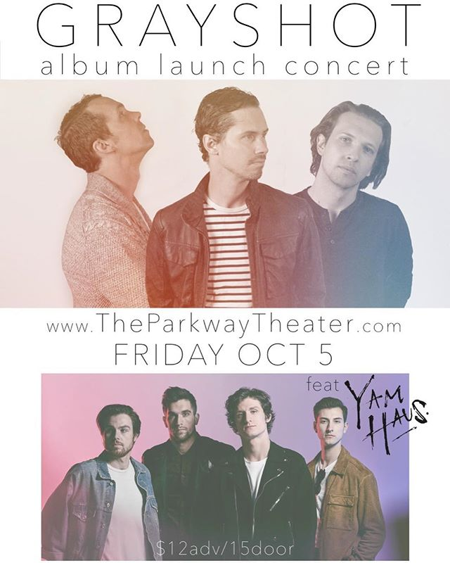 It's all happening! Launching our new album with a Mpls show, joined by the sweltering @yamhaus at the newly re-opened Parkway Theater. Tix in bio, get them while you can! @theparkwaympls
