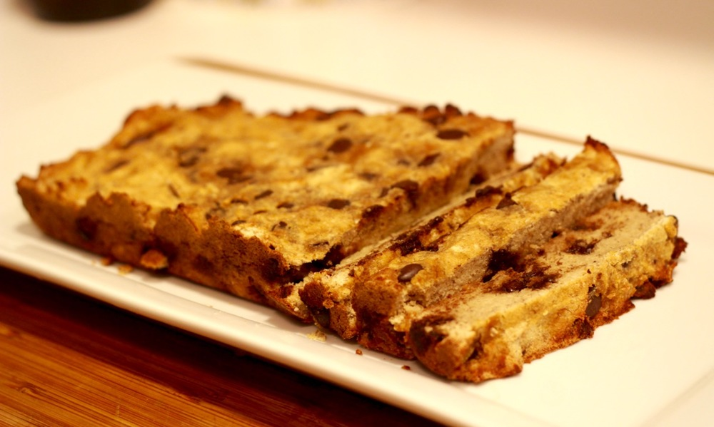 Banana Chocolate Chip Bread (Gluten Free) | karmickravings.com