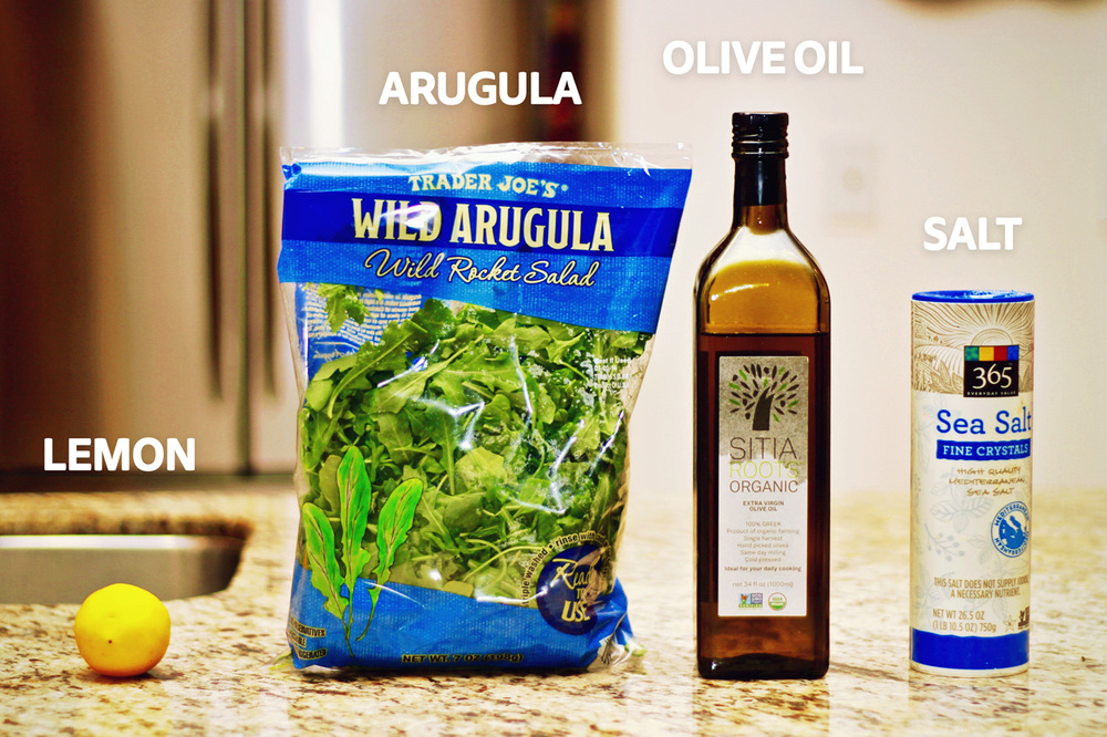 Simple Arugula Salad | karmickravings.com