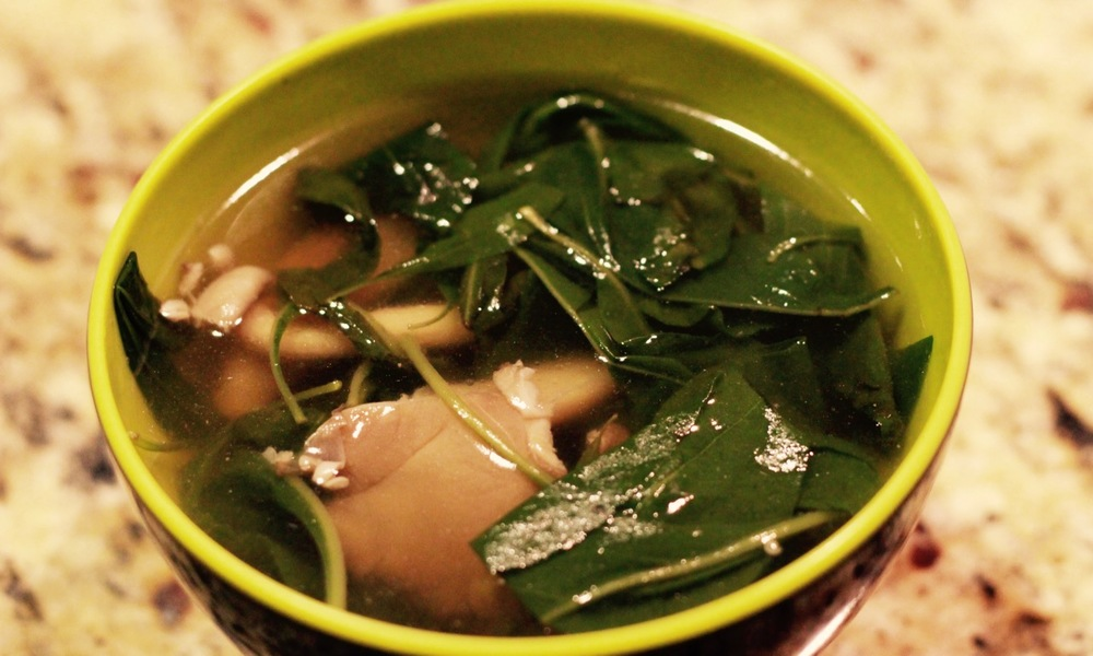 Chinese Vegetable Soup (Lycium Chinense/Chinese Wolfberry)  | karmickravings.com