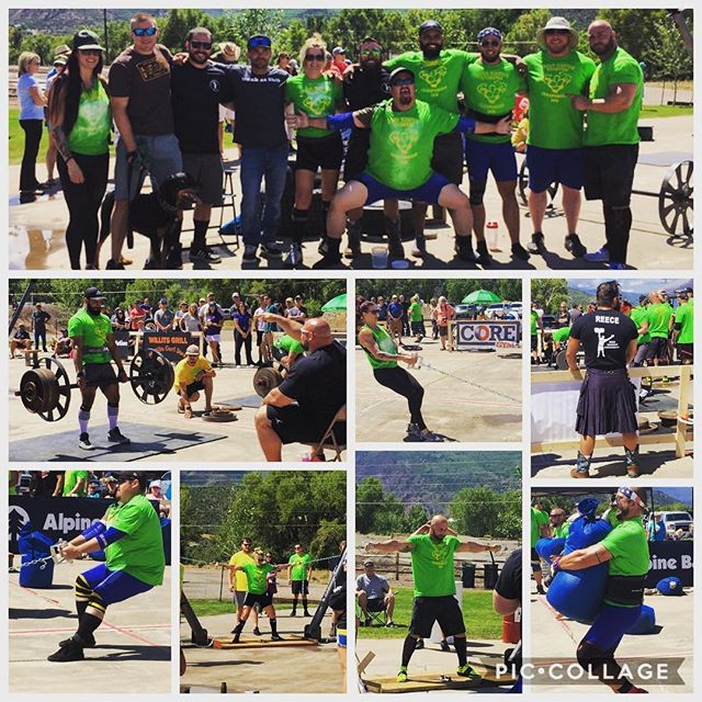 A few shots of the athletes midway through the Crown Mountain Strongman Championships.  Coaches: Anthony and Tex Athletes: Huy Le, Nick Strauss, Adam Martin, Chris Chandler, Tanna Rae Manthe, Tahverlee Anglen  #IWG #ironwarriorgym #strongman  @iron_warrior_strongman  @maxmuscledenver