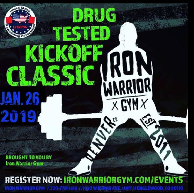 Get registered , its go time !! #Ironwarriorgym #powerlifting #USPA #Drugtestedlifters #gotime