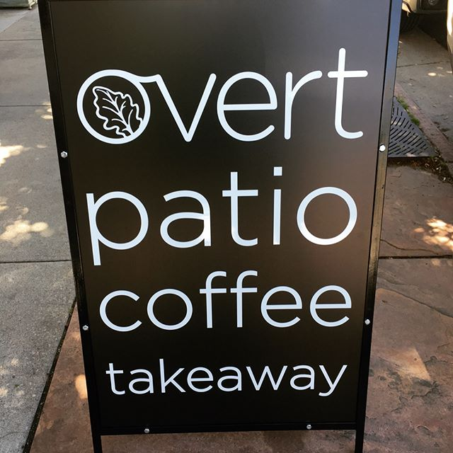New signs!  Perfect morning for a coffee on our sunny patio! #overtcoffee #denvercoffee #coffee #denver