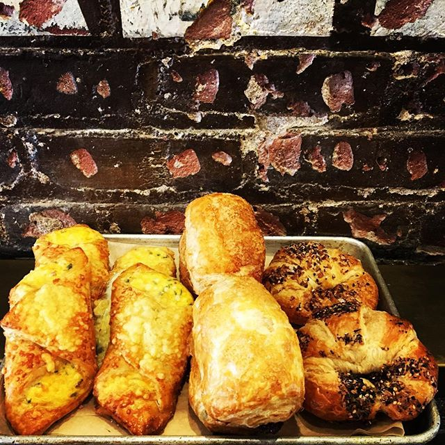 Fresh out of the oven!! #painauchocolat #croissant #bacon #pastry #coffee #denver #denvercoffee #treats