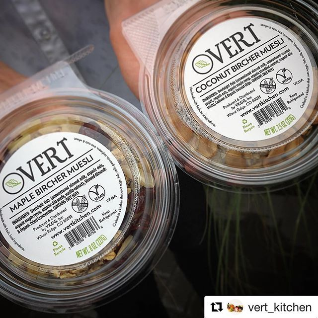 Have you tried these yet?!? We can't get enough of these delicious overnight oats!  They are the perfect way to start the day! . . . #overnightoats #birchermuesli  #vertkitchengrabngo #repost #vertkitchen #instalike #denver #denvereats #organic #brunch #patio #yum #instadaily #instafood #denverfood #coloradofood #lunch #delicious #breakfast  #food #tasty #5280 #vegan  #weekend  #instagood #coloradorestaurants  #coloradoeats #naturalgrocers #overtdenver