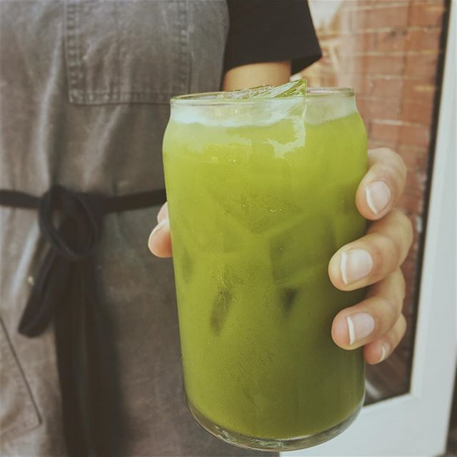 Matcha + elderflower + ice = delicious, thirst-quenching signature tonic. . . . . #matcha #overtdenver #overtcoffee #elderflower #elderflowersyrup #tea #5280 #instagood #instadrink #specialtycoffee #specialtydrink #tonic #denvercoffee #coloradoeats